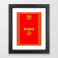 bravo single hop Framed Art Print