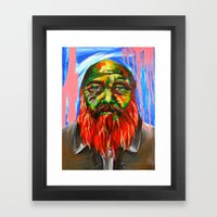 Les envers des endroits Framed Art Print