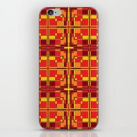 Red and Yellow Cross Pattern iPhone & iPod Skin