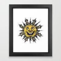 Sun Face - Original Yell… Framed Art Print