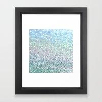 Blue Mist Snowfall Framed Art Print