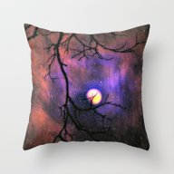 Throw Pillow featuring A Galaxy's Moon by Caleb Troy