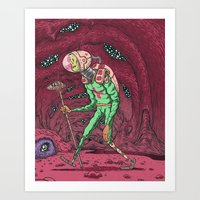Martian Ghoul Art Print
