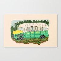 Into The Wild Magic Bus Canvas Print