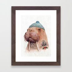 Tattooed Walrus Framed Art Print