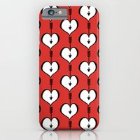 iPhone & iPod Case featuring Loving You white hearts by Floating Lemons