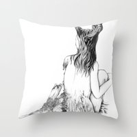 Sleeping Forest Throw Pillow