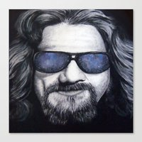 The Dude Lebowski Canvas Print