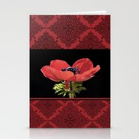 Red Anenome Stationery Cards