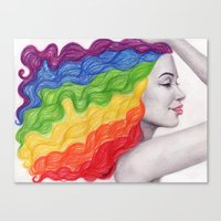 Rainbow Locks Canvas Print