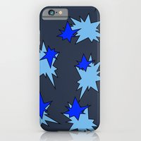 iPhone & iPod Case featuring Stars (Navy & Sky on Blue) by Paul James Farr