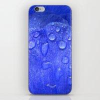 blue petal drops I iPhone & iPod Skin