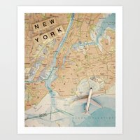Let's Fly To New York Art Print