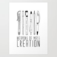 Art Print featuring Weapons Of Mass Creation by Bianca Green