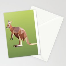 Geometric Kangaroo Stationery Cards