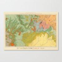 Vintage Southwest Map Canvas Print