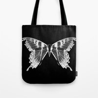 Wings and Skull #5 Tote Bag