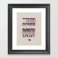 Sweepin' Down The Plai… Framed Art Print