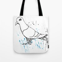 Bird Of Grey Tote Bag