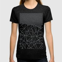 Ab Linear Grey Womens Fitted Tee Tri-Black SMALL