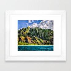 Na' Pali Spires, Kauai, … Framed Art Print