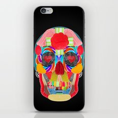 Sweet Sweet Sugar Skull On Black iPhone & iPod Skin