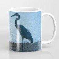 Great Blue Heron Fishing Mug