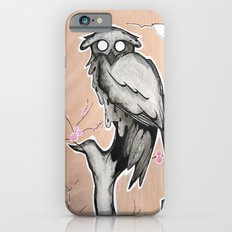 Owl on the branch with a full moon iPhone 6s Slim Case