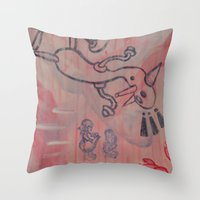 Dick and Jane go to Disneyland Throw Pillow