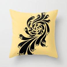 Happy Splash - 1-Bit Oddity - Black Version Throw Pillow