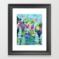 Pour it All Out Framed Art Print