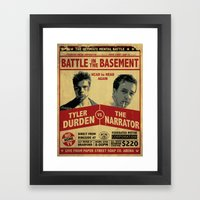 Fight Club Fight Poster Framed Art Print
