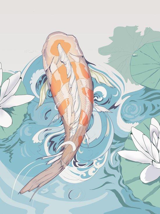 Koi Passing Through Canvas Print