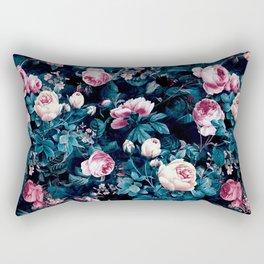 Rectangular Pillow - Roses Blue - RIZA PEKER