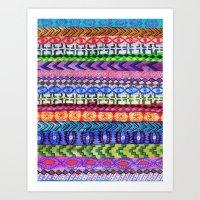 Peru Stripe II Art Print