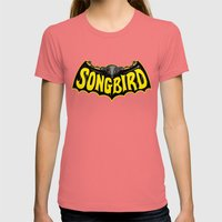Songbird Womens Fitted Tee Pomegranate SMALL
