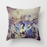 Throw Pillow featuring Brave New World by TRASH RIOT