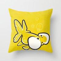 Bubble Eye Goldfish Throw Pillow