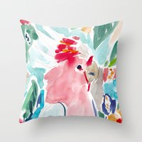 Mitchell the Cockatoo Throw Pillow