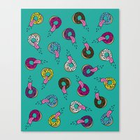 Donut Lickin's Canvas Print