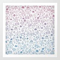 Cute & Sweet Monsters / … Art Print