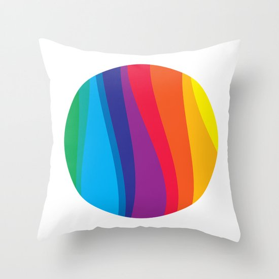 Large Marble Throw Pillow