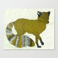 Gold Fox Canvas Print