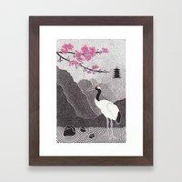 Asian Crane Framed Art Print