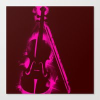 Painted Violin Canvas Print