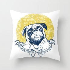 Pug : Small dog, big attitude. Throw Pillow