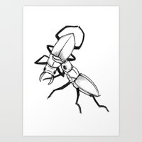 Stag War Art Print