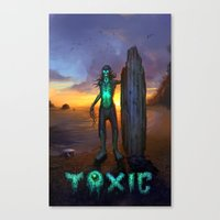 Toxic Surfer Canvas Print