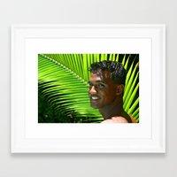 Hawaiian Smile Framed Art Print