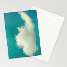 Genie in a Bottle.  Cloud Photography.  Turquoise Stationery Cards